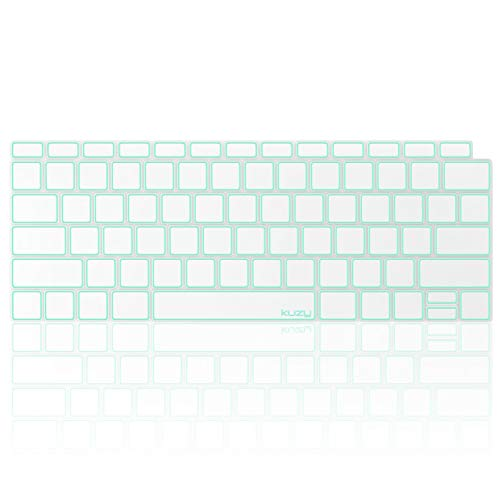 Kuzy Compatible with MacBook Air Keyboard Cover, 13 inch 2019 2018 A1932 with Retina Display Touch ID Premium Ultra Thin TPU Protective Skin Protector, Apple MacBook Air 2019 Keyboard Cover, Mint