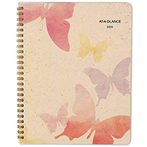 "AT-A-GLANCE 2020 Monthly Planner, 7"" x 8-3/4"", Medium, Recycled, Watercolors (791-800G)"