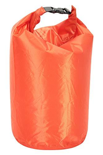 Mountain Warehouse Sac à Dos imperméable Drybag 10 L - Tissu Ripstop, Coutures scellées, Pochette sèche - Entretien Facile - Idéal pour Kayak, Rafting, pêche et Camping Orange Taille Unique