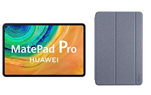 HUAWEI MatePad Pro - Tablet de 10.8'' FullHD (WiFi, Procesador Huawei Kirin 990, 6GB de RAM, 128GB de ROM, Sistema Operativo EMUI 10.0.1, Huawei Mobile Services), Color Gris + Funda Gris de Regalo