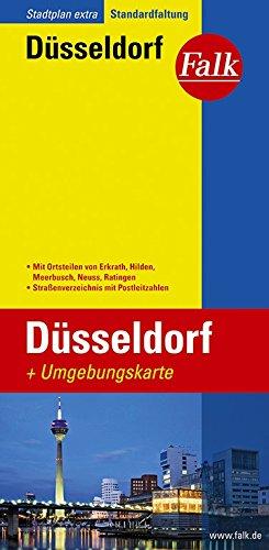 Falk Stadtplan Extra Standardfaltung Düsseldorf