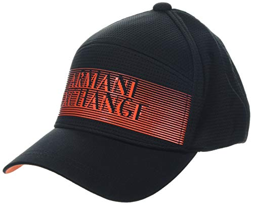 Armani Exchange 3D Logo Baseball Hat Gorra de béisbol, Negro (Negro 00020), Talla única (Talla del Fabricante: TU) para Hombre