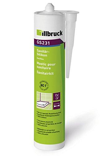 Silikon Sanitär Bau Profiware Illbruck GS 231 310ml Kartusche (zementgrau)