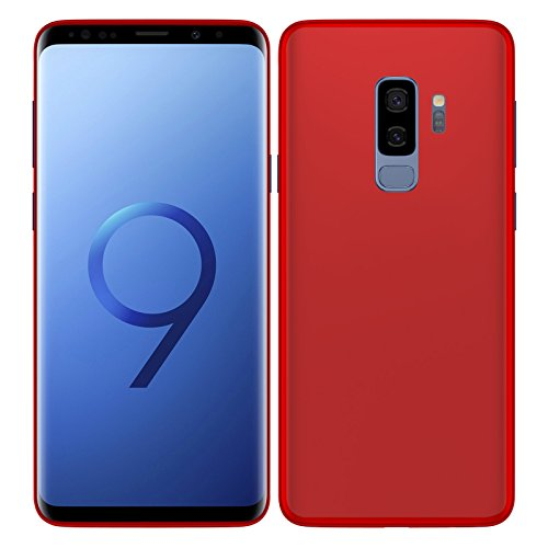 TBOC® Rot Gel TPU Hülle für Samsung Galaxy S9 Plus - S9+ (6.2 Zoll) Superdünn Flexibel Silikonhülle