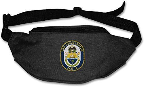 USS Charleston LCS-18 Kampfschiff Unisex Outdoor Gürteltasche Gürteltasche Sport Hüfttasche
