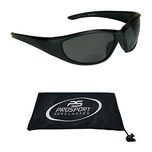 proSPORT Polarized Bifocal Sunglasses Readers for Men Women Full Sport Wrap Frame Fishing Boating Be - http://coolthings.us