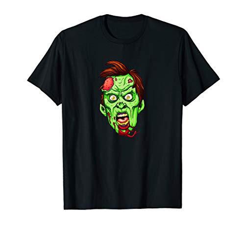 Zombie Kopf Gruseliges Halloween Kostüm Witziges Horror T-Shirt