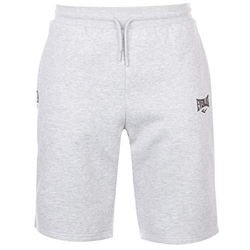Everlast Herren Fleece Shorts Elastischer Bund 2 Taschen Grau Marl M