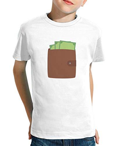 tostadora - T-Shirt Portafoglio con I Soldi - Bambini Bianco XL