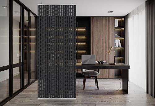 YourCasa - Raumteiler hängend [Designelement] Blickfang und Dekoration in jedem Raum | Trennwand ist Lichtdurchlässig - Raumtrenner 120 x 240 cm- Paravent bietet Sichtschutz - Multifunktional