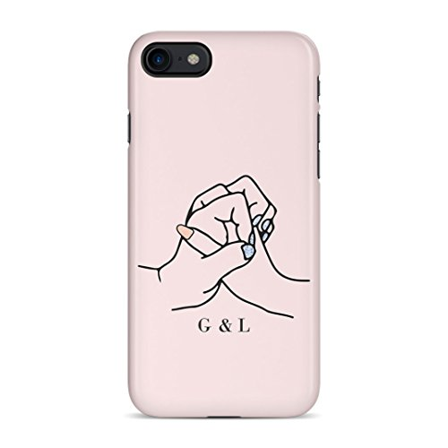 Personalised Custom Text Best Friend Initials Love Besfriend Forever Protective Hard Plastic Case Cover For iPhone 7/iPhone 8 Carcasa