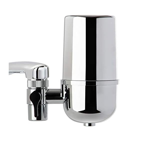 iSpring DF2-CHR Faucet Mount Water Filter - Unparalleled Contaminants Removal, 500GAL Filter Life, 1.5GPM Filtration Rate, Chrome 1 <p>Unparalleled Filtration Efficiency (Removes chlorine, chloramine, germs, cysts, lead, mercury, lindane, atrazine, VOCs & many other contaminants) Stable Filtration Performance Long-Lasting Filter Life up to 500 Gallon (8 months) Fast flow rate up to 1.5 GPM (10 bottles in 1 minute) Easy installation. Lifetime support from iSpring in Alpharetta, GA at (678) 261-7611</p>