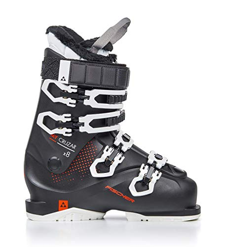 Fischer dames skischoenen My Cruzar X8.0 MP23.5 rood Thermoshape Flex 80 skistlaarzen Model 2020