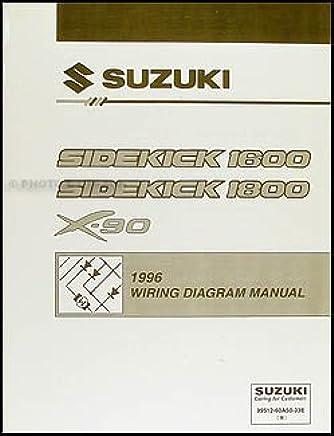 1996 suzuki sidekick 1600 and sport 1800 x-90 wiring diagram manual  paperback – 1996