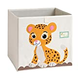 Caja de almacenamiento plegable con diseño de leopardo