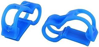 eDealMax 2 Pz RC Nitro 5 millimetri Dia combustibile Linea Tubing morsetto a pinza blu Clip