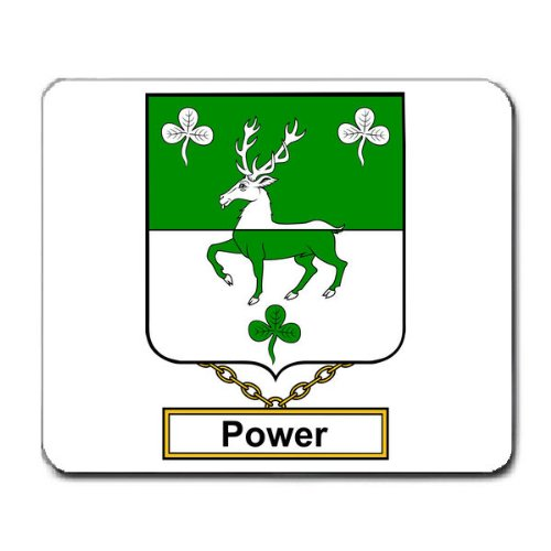 Power Family Crest Coat of Arms Mouse Pad