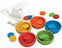PlanToys 5360 Sort & Count Cups Baby Toy