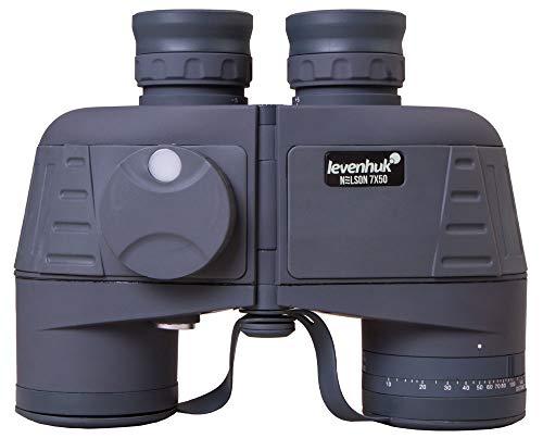 Prismáticos Marinos Levenhuk Nelson 7x50, Impermeables al Agua, con Óptica de Vidrio BaK-4 Provista de Revestimiento