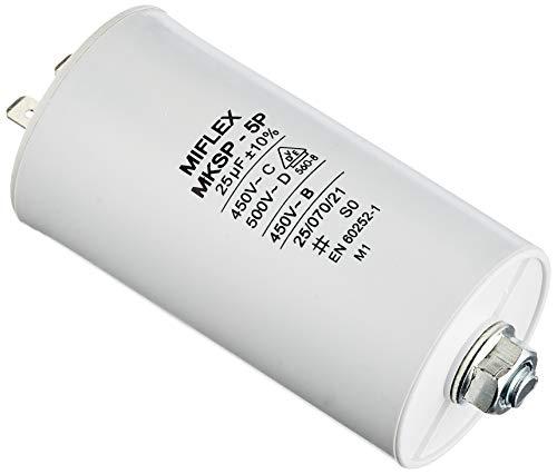 Condensatore di avviamento del motore 25 μF; 450 V; 45 x 83 mm; spina M8; Miflex; 25uF