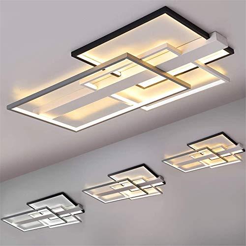 LHY LOFT Lamparas de Techo Modernas, luz de salón Rectangular Simple de...