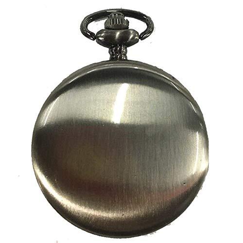 WOAIXI Reloj De Bolsillo Vintage,Colgante Suave Reloj De Bolsillo Moderno Árabe Número Analógico Hombres Y Mujeres Moda Collar Cadena Unisex Regalo, Gris Plata