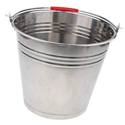 Toygogo Multifunktioon Edelstahleimer Wassereimer Kücheneimer Eiswürfelbehälter Haushaltseimer Kücheneimer - 20L 36cm