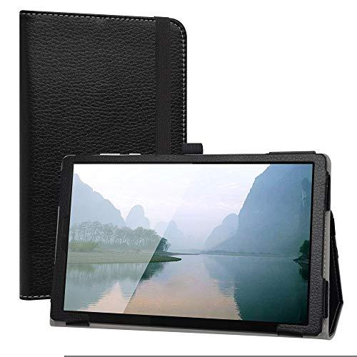 Labanem Custodia con Lenovo Tab M10 HD, PU Pelle Slim Flip Case Cover Protettiva Pieghevole Stand Cover per 10.1  Lenovo Tab M10 HD (2nd Gen) TB-X306X Tablet - Nero