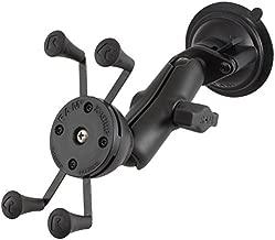 RAM Mounts (RAP-B-166-UN7U) Composite Twist Lock Suction Cup Mount with Universal X-Grip Cell/Iphone Holder