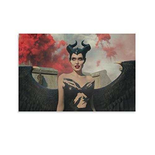DRAGON VINES Poster, Motiv: berühmte Schauspielerin, Angelina Jolie Maleficent 2, Der Teufel, Wanddekoration, 20 x 30 cm