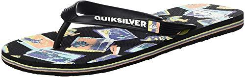 Quiksilver Molokai Vacancy, Zapatos de Playa y Piscina Hombre, Multicolor (Black/Green/Black Xkgk), 39 EU