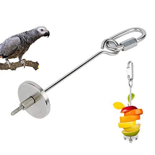 JOJYO Papageien-Spieß,Vogelspielzeug Papageien Lebensmittel Aufsteckspindel Nahrungsmittelfleisch Frucht Stock Stangen Halter (S)