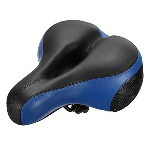 ZYZYP Sillines de sillín de bicicleta de gran ancho para carretera de montaña, asiento de bicicleta de montaña, asiento de ciclismo, cojín suave, accesorios de MTB (color: 2)