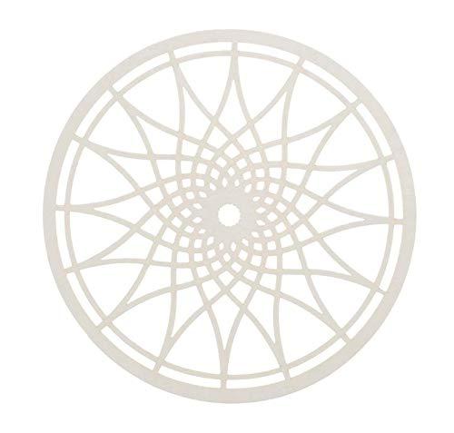 GLOREX 6 3822 200 Papierrondel für Traumfänger 6St, 10cm, weiss, weiß