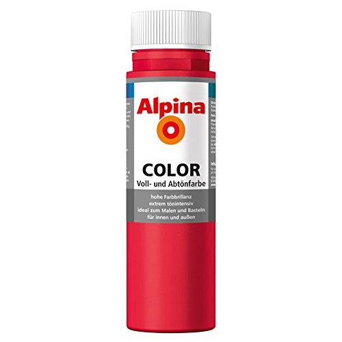 ROLLER Alpina Voll- und Abtönfarbe COLOR - feuerrot - 250 ml