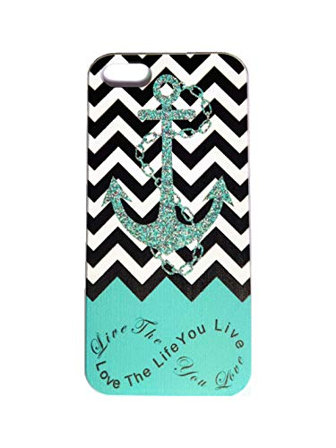 Generic S9Q Anchor Chevron Retro Vintage Tribal Nebula Pattern Hard Case Cover Back Skin Protector For Apple iPhone 5 5S Style C Blue