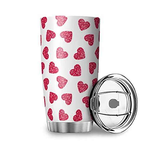 Harneeya Tumbler Heart Stainless Steel Travel Mug Cartoon Tumbler Cup for Home/Office/School 20oz White 20oz