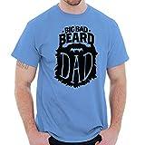 Big Bad Beard Dad Fathers Day Facial Hair T Shirt Tee Carolina Blue
