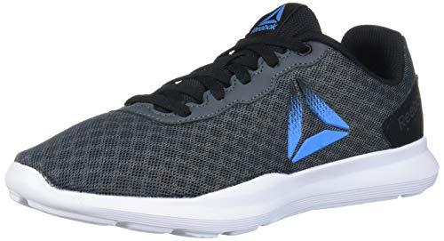 Reebok Women's Dart TR Running Shoe, Grey/Black/Bright Cyan, 6 M US