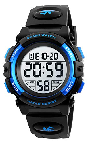 Dreamingbox Kids Digital Watches Boys, Boys Sports Watches Waterproof Boys Watches Ages 7-10 Led Kids Watches Christmas Thanksgiving Birthday Gifts for Boys Age 5-10 Gift Ideas Stocking Fillers Blue