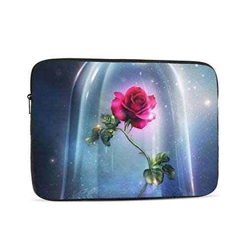 Laptop Sleeve Case- Multi Size Beauty and Beast Rose Notebook Computer Protective Bag Tablet Briefcase Carrying Bag,10 Inch