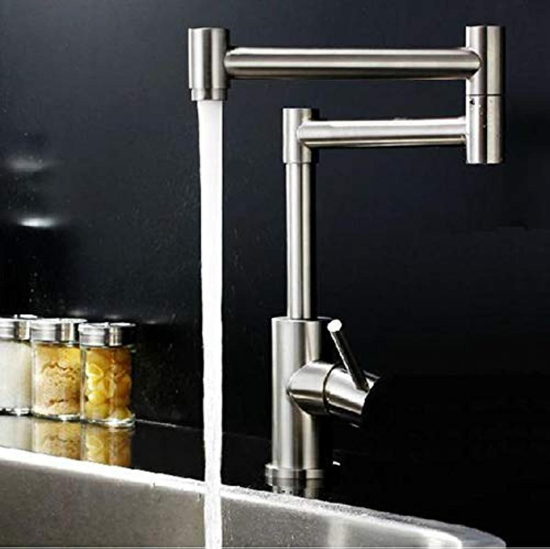 GFF Spüle Mischbatterie Bad Küche Waschtischarmatur Auslaufsicher Wasser sparen 304 Edelstahl Klapp Kaltwasserschlitz
