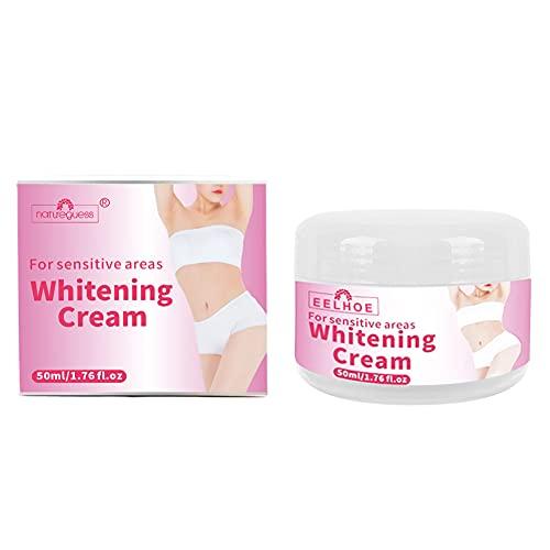 Crema blanqueadora para blanquear la cara, el cuerpo, crema para aclarar las axilas, crema blanqueadora para las axilas, piernas, rodillas, partes privadas, cuerpo blanco