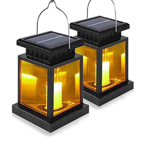 LED Solarlaterne Solarglas mit LED Kerze warmweiß inkl. Akku - 2 Gläser im Set Gartenlampe Solarlampe Laterne Solar-Laterne (2x Laterne mit LED Kerze)