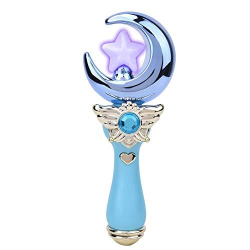 Cartoon Flash Stick, Musica Leggera Bacchetta Magica Giocattolo per Bambini Piccolo Giocattolo Luminoso Elettronico Regalo di Festa E Regalo di Compleanno per Ragazze per Bambini(Blue)