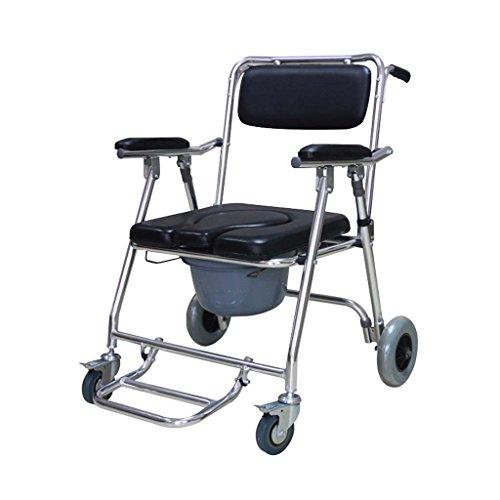 Guo Shop- Siège de toilette chaise en alliage d'aluminium pour handicapés femmes enceintes âgées maison pliable 60 * 63 * 86cm Salle de bain Tabourets