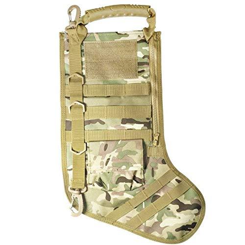 Weilov 1PC Navidad Medias Militar Navidad Medias Desierto Woodland Creativo Navidad Medias Accesorios Almacenamiento Bolsa Camuflaje
