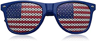 Fascigirl Kids Party Sunglasses Usa Flag Pinhole Costume Sunglasses for Independence Day