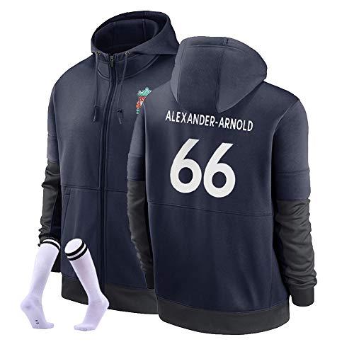 LJF Alexander-Arnold # 66 Football Sudadera con Capucha Suéter De Fútbol Cálido Y Grueso Sudadera Unisex S-3XL (Color : C, Size : Adult X-Large)