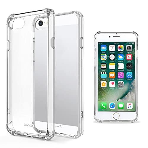 Moozy Cover Silicone Trasparente per iPhone SE, iPhone 5s - Custodia Antiurto, Crystal Clear Case, TPU Morbido
